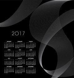 2017 Cal Wav Lines vector image