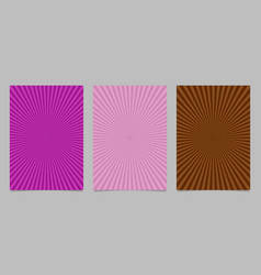 Abstract colored ray burst pattern brochure vector