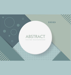 abstract dark green background with a round frame vector image