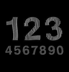 arabic numerals set 1-10 vector image