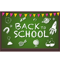 Back to school theme with writing on board vector