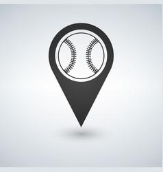 Baseball marker path pin vector