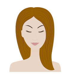 beautiful girl with closed eyes vector image