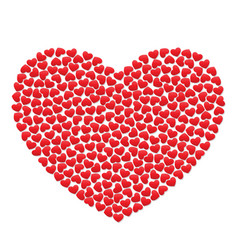 big heart with small red hearts vector image vector image