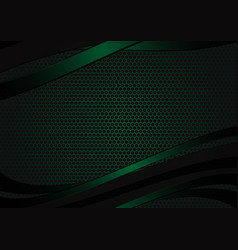 black and green geometric abstract background vector image