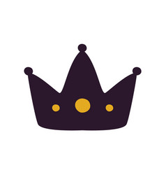 black crown silhouette icon vector image