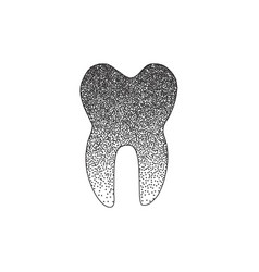 Black tooth icon vector