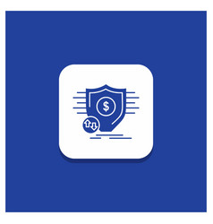 blue round button for finance financial money vector image