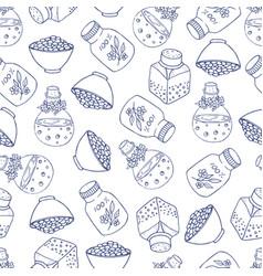 bottle pattern vector image