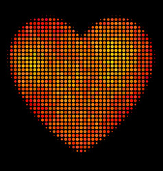 bright dot love heart icon vector image