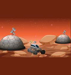 camp in space scene vector image