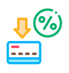 card percentage icon outline vector image