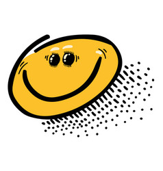 cartoon image of smile icon happy face symbol vector image