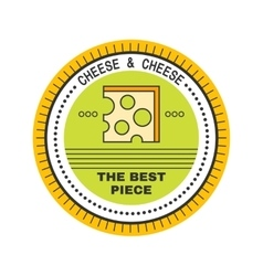 Cheese Label sticker logo for a food product vector