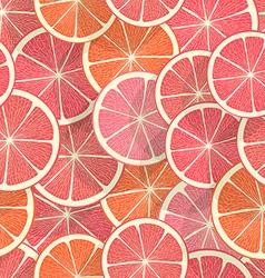 Citrus seamless background Grapefruit vector image
