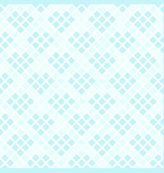 cyan rounded diamond pattern seamless background vector image