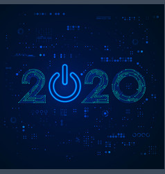 electronic2020 vector image