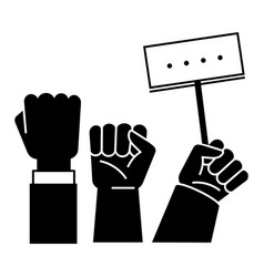 fist up demonstration icon simple style vector image