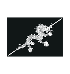flag of Bhutan vector image
