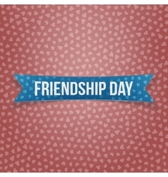 Friendship Day blue paper Ribbon vector