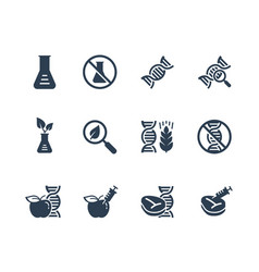 Gmo related icon set vector