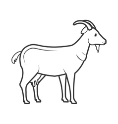 Goat animal farm icon vector