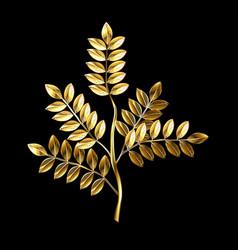 golden twig vector image