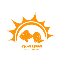 Goldfish and sun vector