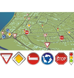 gps signs vector image