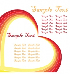 graphic heart frame vector image