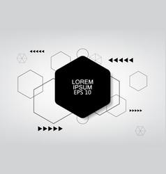 Gray background hexagon pattern template vector