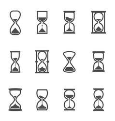 hourglasses ancient horologe vintage clocks vector image