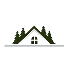 House mountain realty resort logo vector