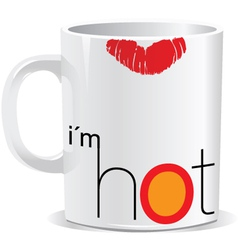 I am hot mug vector