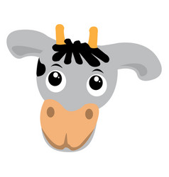 isolated cute cow vector image