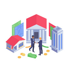 isometric banking concept vector image
