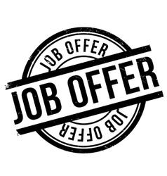 Job offer stamp vector