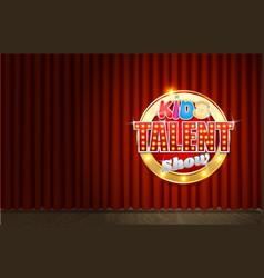 kids tv talent show scene vector image