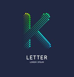 letter k latin alphabet display vector image