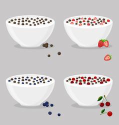 Logo for milk cereal balls vector