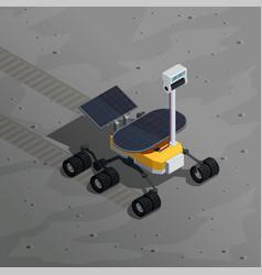 mars exploration isometric background vector image