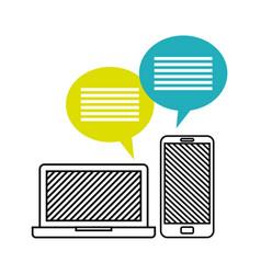 mobile technology desig vector image
