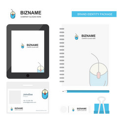 mouse business logo tab app diary pvc employee vector image