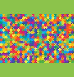 multicolor puzzles pieces jigsaw vector image