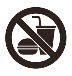 no food and no drinks allowed vector image
