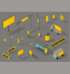 outdoor out-of-home advertising media isometric vector image