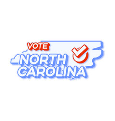 Presidential vote in north carolina usa 2020 vector