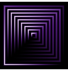 Purple neon square background vector image