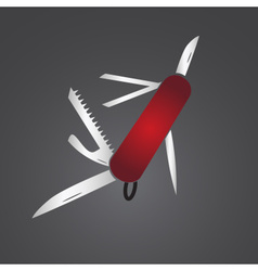 Red pocket knife eps10 vector