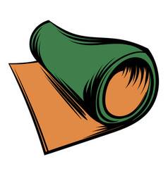 rolled mat icon cartoon vector image